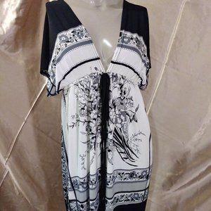Cristinalove Empire Dress Black and White